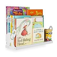 Wallniture Animal Figure Nursery and Kids Room Wall Mounted Floating Bookshelf Metal 17 Inches