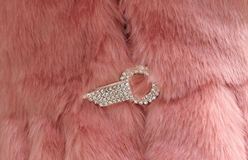 lapin Rose faux manteau faux fourrure de Rex EU collier Fox avec Helan femmes fourrure Ow5qtnWTf