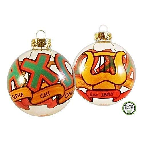 Whimsical Alpha Chi Omega Christmas Ornament