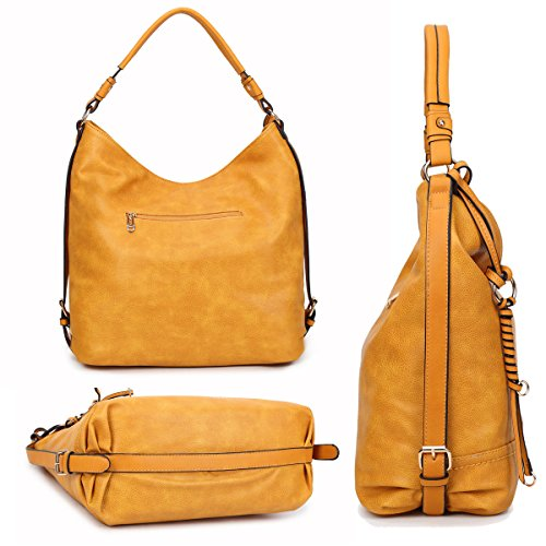 Purses Casual Designer Kk3373 Bungundy Women DASEIN Bag Shoulder Handbags Vintage Soft Washed Hobo Tote HgnzPAxq