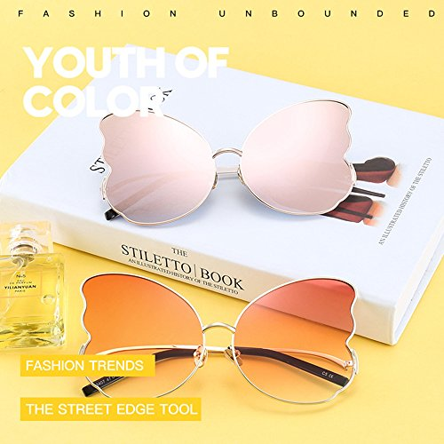 Gray Sunglasses Eye Butterfly Polygon Chrome Lady Street Butterfly Sun Douerye wHPp0