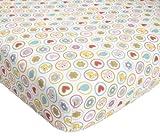 Kids Line Dena Happi Tree Crib Fitted Sheet, Pink, Baby & Kids Zone