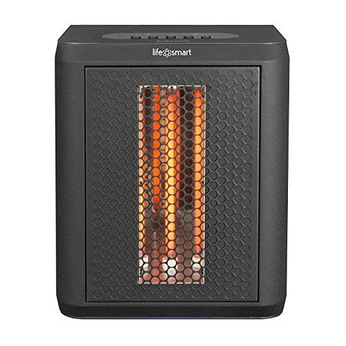 Lifesmart MCHT1120US Tabletop Infrared Heater Fan, Black Infrared Lifesmart