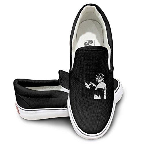 Amone Trevor Siemian Denver Casual Unisex Flat Canvas Shoes Sneaker Black (Denver Broncos Nfl Nano)