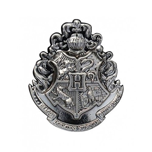 (HARRY POTTER Hogwarts School Crest Pewter Lapel Pin)