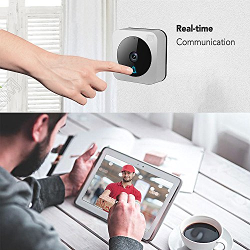 Wifi Video Doorbell,Works with Alexa Echo Show,Netvue Vuebell Doorbell Camera 720P HD Cam,Cloud Storage,Two-Way Audio,Smart Motion Detection,Infrared Night Vision AC 8-24V DC 9-36V(Hard Wire version) by NETVUE (Image #5)