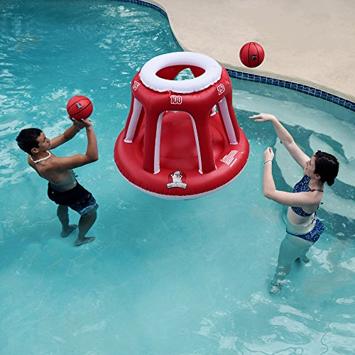 Giant Pool Inflatable Basketball Hoop Set 2 Balls Included