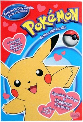 Amazon Com Pokemon Valentine S Day Cards 35 Stickers Health