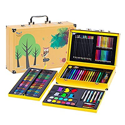 Painting & Drawing Set Children's Brush 158 Piece Set Painting Tools Painting Set Watercolor Pencil Color Pencil Wax Art Supplies Watercolor Pens