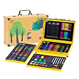JIANGXIUQIN Artist Art Drawing Set, 158 Luxury Art Painting Supplies, Cute Snap-on Suitcases Store Everything, Free to Create A Variety of Artistic Media. Gifts for Children and Children.