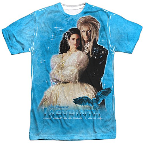 Labyrinth Family Fantasy Adventure Movie Dream Couple Adult Front Print T-Shirt by Labyrinth