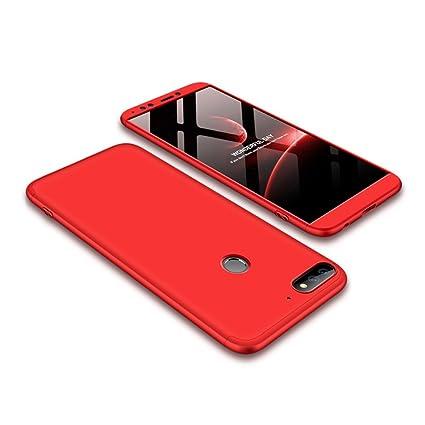 Abuenora Huawei Honor 7C Funda Antigolpes, Carcasa Huawei Y7 2018 Protección 360 Integral Completa Pantalla Cubrido a Prueba de Choques Impactos Caída ...