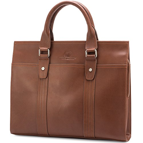 Leather Briefcase By Jason Gerald Leather Laptop Bag - Premium Messenger Bag For Men And Women