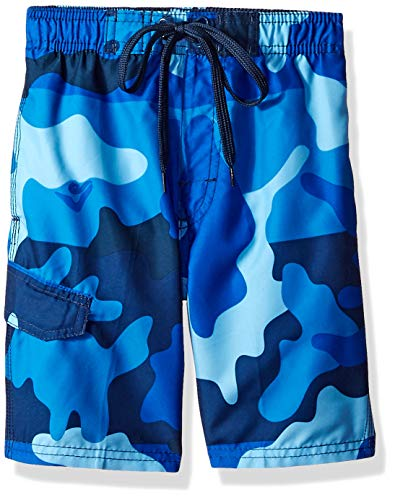 (Kanu Surf Toddler Boys' Viper Quick Dry Beach Swim Trunk, Surf Camo Navy, 2T)