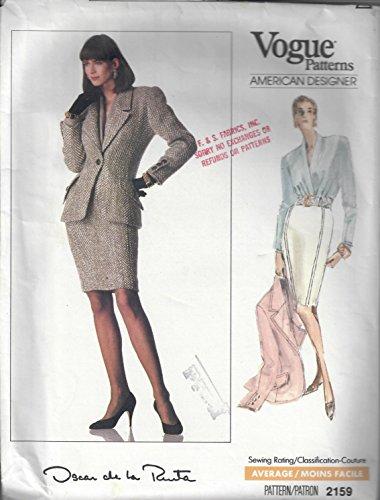 Vogue Paris Original Pattern, Oscar de La Renta #2159 (Oscar An Oscar De La Renta Company)