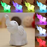 7 Colors Changing Elephant LED Night Light Battery Party Decor