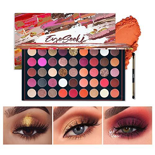 EYESEEK Matte Eyeshadow Palette Makeup Brushes Set 45 Shades Shimmer Smoky Glitter Eyeshadow Pallet High Pigmented…