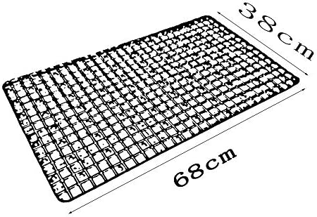 GHHQQZ 2個 38x68cm バスルームラグ 厚い ノンスリップ マッサージ 強力な吸盤 PVC キッチン フットパッド ホーム バスルームのカーペット、 3色 (Color : Blue, Size : 38x68cm)