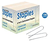 Sandbaggy GALVANIZED 6'' Landscape Staples ~ Landscape Fabric Pins -Garden Staples Heavy Duty - Ground Cover Staples - Fence Anchors - Lawn Nails - Garden Stakes - Earth Staples (100)