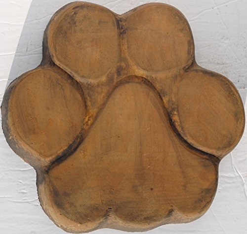 Cheap Dog Memorial Pet Stepping Stone Handmade in USA made of cast stone concrete great for indoor or outdoor 4 finishes stained or unpainted (Padre Brown)