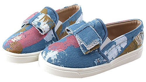 Milky Walk Painting Boy's Girl's Slip On Sneakers Shoes (Toddler/Little Kid) (8 M US Toddler, Sky Blue)