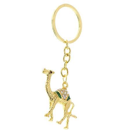 D dolity Moderno Cristal camello Forma llavero bolso hebilla ...