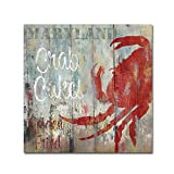 Trademark Fine Art Restaurant Seafood II by Color Bakery, 14x14-Inch Canvas Wall Art