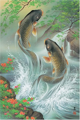 [1000 pieces] Rising Koi Carps Jigsaw Puzzle (75 x 50 cm) Japan by Appleone by appleone