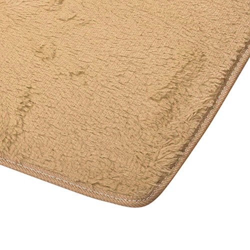 "Living Room Non-slip Rugs, Owill Soft Anti-skid Carpet Living Room Bedroom Shaggy Carpet 15.7x23.6"" (Khaki)"