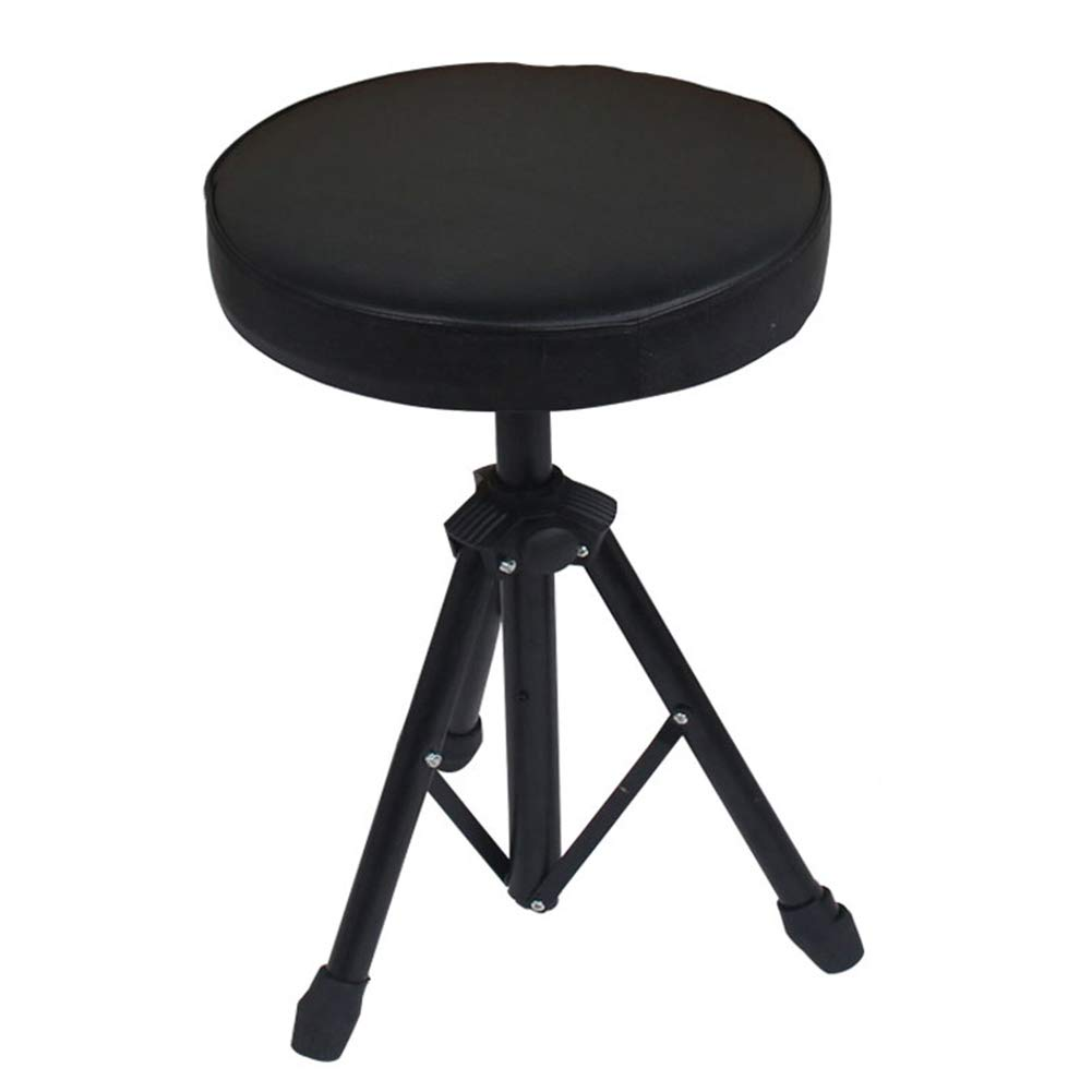Black ZHAOYONGLI Folding Stool Folding Step Mazza Portable Stool Mazar shoes Stool Footstool Step Stool Adjustable Foot Rest Collapsible Round Piano Jazz Musical Instrument Creative solid durable long lastin