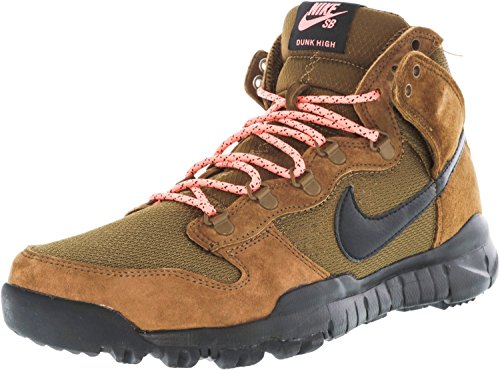 Nike Men High Dunk Black Boot Sb Brown Skateboarding s Shoes dark Khaki Brown Military BwrqB