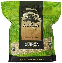 Truroots Organic Quinoa Whole Grain Premium Quality, 4 Lbs
