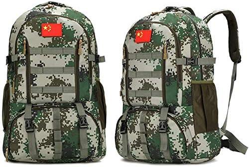 BAJIMI アウトドアハイキングキャンプ旅行60L軍の戦術的なリュックサックサイクリングバッグ/スタイル/Fのためのバックパック
