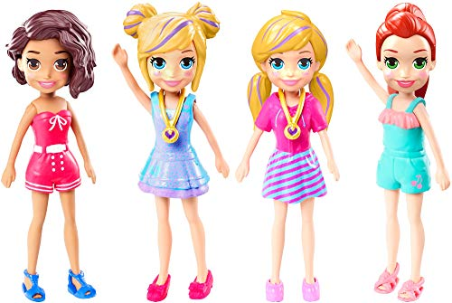 """Polly Pocket Doll With Trendy Outfit 2018 Edition Measures Approx. 3.5"""" Tall (1 Doll)"""
