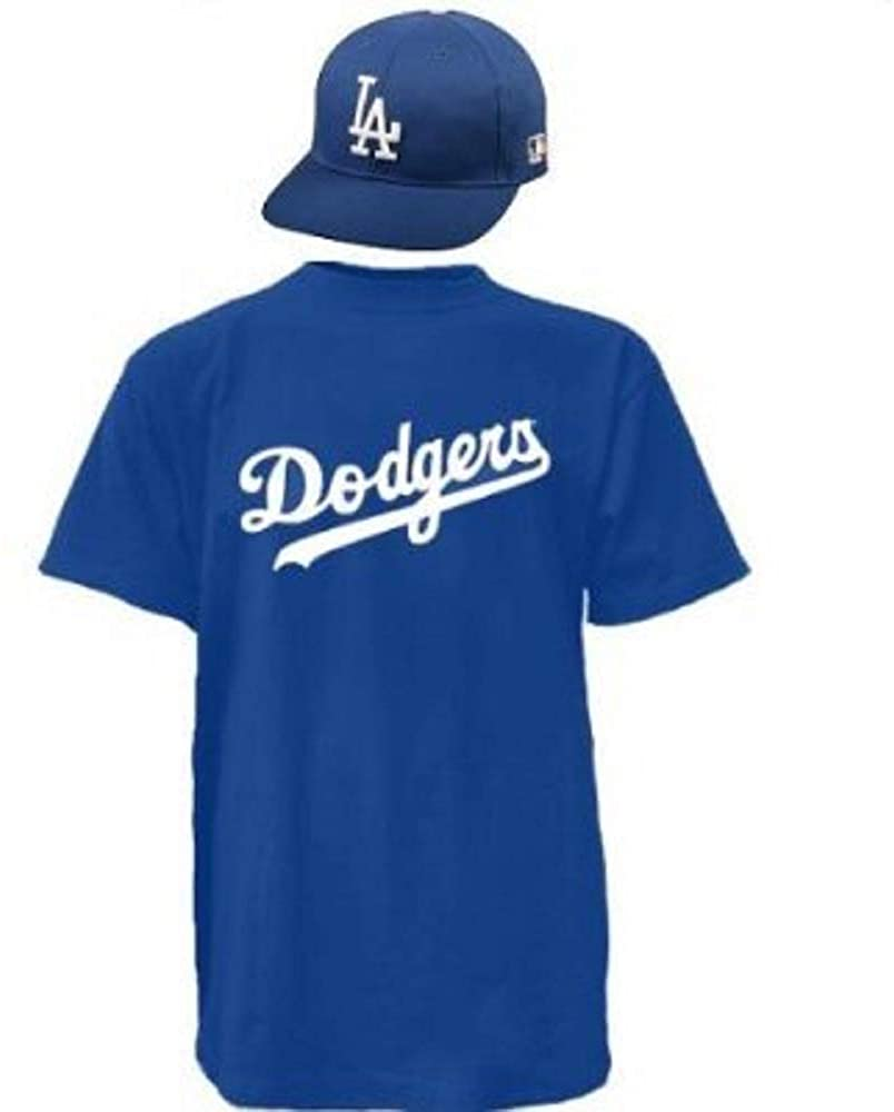 Majestic Los Angeles Dodgers Cap & Jersey Licensed Replica Hat/Tee Combo (10 Youth/Adult Sizes)