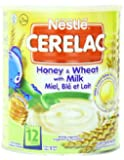 Nestle Cerelac, Honey and Wheat with Milk (From 12 Months), 14.11-Ounce Cans (Pack of 4)