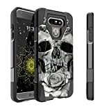 Untouchble Case for LG G6 Hard Case  G6 Case   VS988 H872 Case [Traveler Series] Durable Two Layer Bumper Shell with Kickstand - Rose Petal Skull