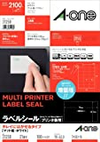 100 sheet surface 21 A4 size paper, type mat white peel off ONE (A-one) label seal in the printer shared] beautiful (2,100 pieces) 31 258 (japan import)