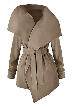 newest 5e1d0 075c5 5 ALL Damen Trenchcoat Winter Elegant Revers Schlank Lang ...