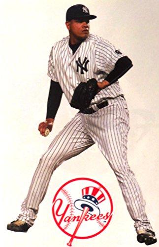 "Dellin Betances Mini FATHEAD New York Yankees Logo Official MLB Vinyl Wall Graphics 7"" INCH"