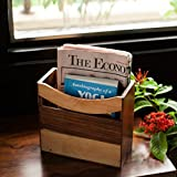 ExclusiveLane Elegant Magazine Cum Newspaper Stand In Sheesham Wood -Magazine Holder Newspaper Holder Racks Storage Basket For Office Room Home Desk Table Top Organizer Decorative Pieces