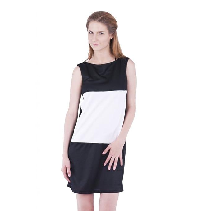 ASOS John Zack funda vestido negro – blanco negro/blanco 40 / UK 14 /