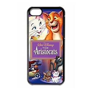 Durable Rubber Cases iPhone 5C Cell Phone Case Black Nqfqo The Aristocats Protection Cover