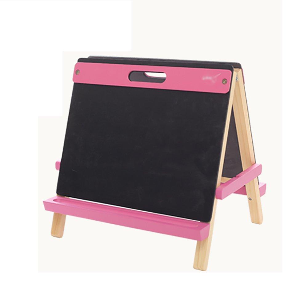 デスクトップ子供用ドローイングボードブラケットタイプ家庭2-10歳の赤ちゃん両面落書き絵画小さな黒板ピンクブルーオレンジ (色 : Pink) : (色 Pink Pink) B07FD61FL2, ラウスチョウ:ce099a48 --- ijpba.info