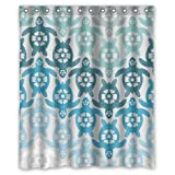 Yestore Superior Custom Sea Turtle WaterProof Polyester Fabric 60' x 72' Shower Curtain