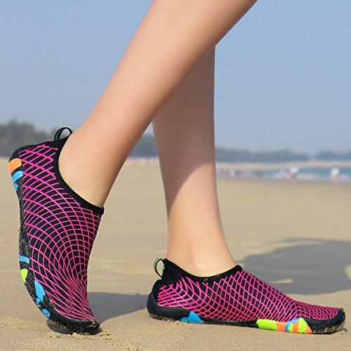 Pieds Des Surf Yoga Des Sec Navigation Femmes De De Course De La Chaussures Hommes Aqua Respirant Rapides Plongée Chaussures Des De Nus De Pour Aux Natation Légers Chaussures Eau Plaisance Rouge Gesimei qfpwAxX1