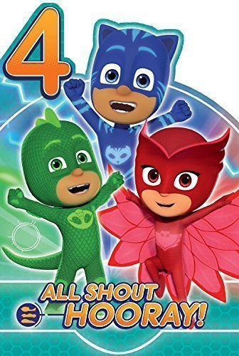 PJ Masks Age 4 Today 4th Birthday Card