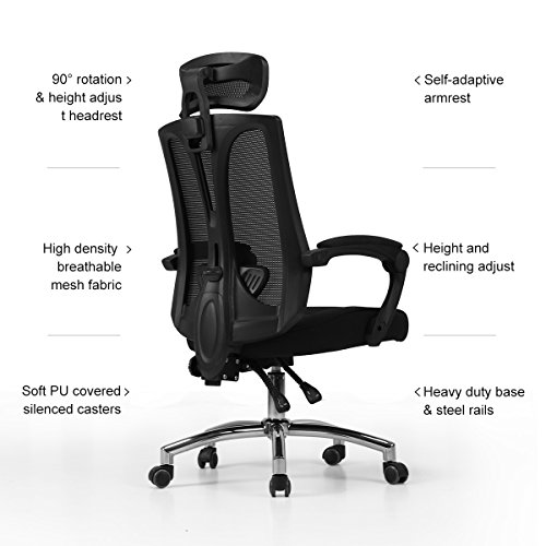Wondrous Hbada Ergonomic High Back Office Desk Chair Big And Tall Home Remodeling Inspirations Cosmcuboardxyz