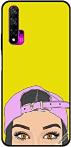 For Huawei Nova 5T Case Pink Cap Girl Apperaing At Bottom
