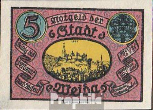 Weida Notgeld  1391 3 Notgeld The City Weida 1921 5 Pfennig Weida  Banknotes For Collectors
